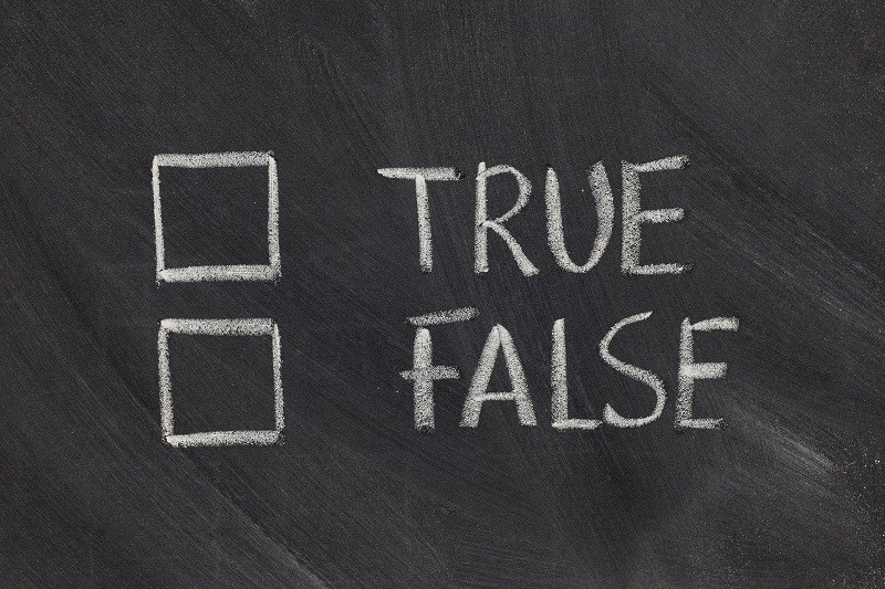 true or false checkboxes